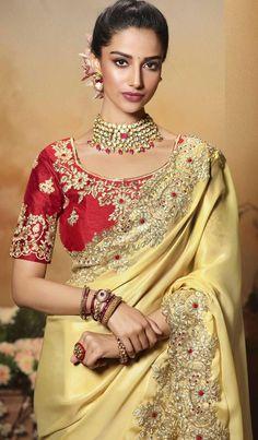 Pink Saree Silk, Silk Sarees, Pink Silk, Lehenga Choli, Blouse Designs Silk, Blouse Patterns, Wedding Saree Blouse Designs, Wedding Sarees, Sari Bluse