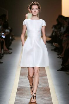 from Valentino Spring 2012...the whole collection was amazing but I love this little white number!