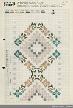 Trykt mønsterark i til brodert tekstil. Hardanger Embroidery, Embroidery Stitches, Embroidery Designs, Bargello Needlepoint, Needlepoint Patterns, Cat Cross Stitches, Cross Stitch Samplers, Drawn Thread, Hello Kitty Wallpaper
