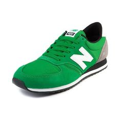 New Balance 420 Athletic Shoe in Green Grey Black
