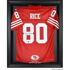 Mounted Memories NFL Hall of Fame Jersey Display Case Frame Color: Black, NFL Player: Jerry Rice Hall of Fame 2010