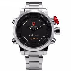 Cheap masculino, Buy Quality masculinos relogios directly from China masculino watch Suppliers: Gulper SHARK Sport Watch Brand Mens Black Luxury Full Steel Band Digital Calendar Wristwatches Quartz Relogio Masculino Cheap Watches, Watches For Men, Shark Watches, Black Luxury, Seiko Watches, Models, Watch Brands, Digital Watch, Luxury Watches