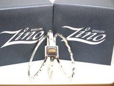 Zino UK Jewellery 9ct gold and sterling silver tri-varium bangle