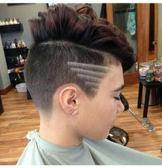 Graphic shaved sides