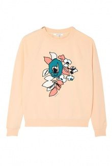 Blush Embroidered Bouquet Jersey Jumper by Carven RTW Pre