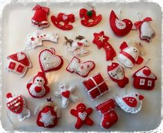 Filcové ozdoby od Kutílka Xmas Gifts, Christmas Time, Diy And Crafts, Projects To Try, Sweet Home, Christmas Decorations, Advent, Sewing, Winter