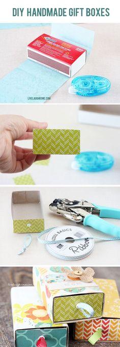 DIY Handmade Gift Boxes  www.livelaughrowe.com #diy