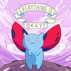 Everything Is Okay Catbug Pillow