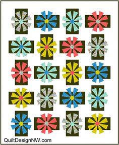 Strawflower applique quilt pattern Throw Quilt Size, Tie Quilt, Quilting Designs, Quilt Design, Quilting Ideas, Dresden Plate Quilts, Applique Quilt Patterns, Flower Quilts, Quilt Sizes