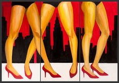 Oil on panel. Louboutin Pumps, Christian Louboutin, Fashion Illustration Sketches, My Works, Ea, Urban, Heels, Dresses, Heel