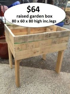 Raised Garden Beds With Legs | Raised Garden Beds On Legs Planter Box  Wooden Rustic Crate