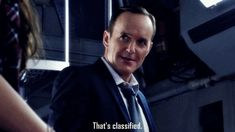 That's classified. || Phil Coulson || AOS 1x02 0-8-4 || 499px × 280px || #animated #quotes