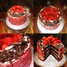 Chocolate fruit and cream heaven