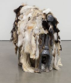 Theaster Gates, Reliquary, 2016, stoneware and fur pelts, 32 1/2 x 30 1/2 x 15 inches