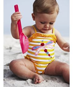 Mothercare Dragonfly Applique Swimsuit - swimwear - Mothercare