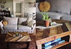 Своїми руками | Interior-v-dom Table En Bois Diy, Diy Table, Wood Table Design, Reclaimed Wood Projects, Couch, Living Room, Interior, Pallet Tables, Inspiration
