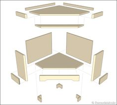 directions for building a corner bench, since they apparently can't be purchased anywhere anymore.