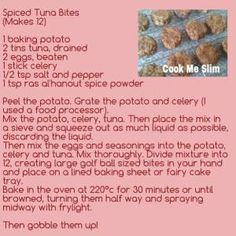 Spiced Tuna Bites A Food, Food And Drink, Slimming World, Tuna, Food Processor Recipes, Spices, Cooking, How To Make, Kitchen