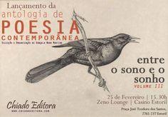 """Participação na Antologia de Poesia Contemporânea """"Entre o Sono e o Sonho – Vol. III""""."""