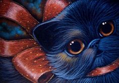 Art: BLACK CAT - HALLOWEEN GIFT by Artist Cyra R. Cancel