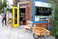 The Depanneur, corner store/cafe. community dinners, groceries, coffee, and baked goods = yum