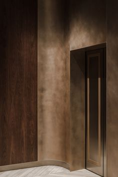 Amuneal Custom Rose Patina on curved wall Hand patinaed Rose finish at Chelsea Mercantile by Amuneal Elevator Design, Lift Design, Design Design, Interior Architecture, Interior Design, Modern Interior, Travertine Floors, Linear Lighting, Wall Lighting
