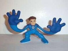MARVEL Super Hero Squad MR FANTASTIC blue gloves complete pvc universe