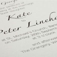 Thermographic Wedding Invitations