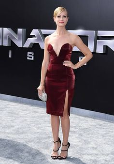 Actress Beth Behrs arrives at the Los Angeles premiere of 'Terminator Genisys' at Dolby Theatre on June 28 2015 in Hollywood California