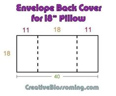 easy envelope pillow sewing pattern for square pillow