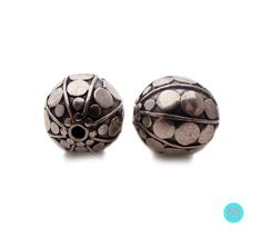 Bali Beads Sterling Silver Beads Beads Four 10mm Sterling Silver Bali Beads 10mm Bali Beads Sterling Silver Beads Beads from Bali