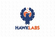 Logo design of a hawk or eagle with a lab bottle between the wings inside the negative space. Hawk Logo, Brand Identity, Branding, Test Tubes, Hawkgirl, Logo Design, Graphic Design, Cool Logo, Logo Nasa