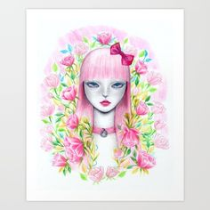 Buy Flora Art Print by Lynette May. Worldwide shipping available at Society6.com. Just one of millions of high quality products available.