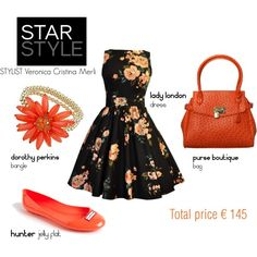 """""""S/S 2013 Black & Coral #1"""" by cristina-merli on Polyvore"""