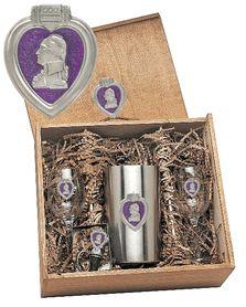 Purple Heart Boxed Wine Set of Chiller - 2 Glasses $130.00