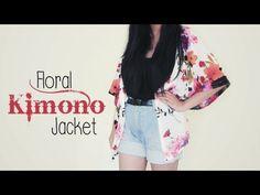 DIY ✂ Floral Kimono Jacket (Easy). Ahh must get a sewing machine already :( #diy #kimono