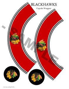 Printable Chicago Blackhawks Cupcake Wrappers and Toppers    Simple as 1,2,3! Print, cut out, and wrap around cupcakes! Add a special touch by cutting out toppers and taping a toothpick or lollipop stick to the back of the topper. Place stick into cupcake for a complete look!    Instantly download after purchase! A link will be available on the downloads page where you can download your file. (A physical product will NOT be mailed to you).    You will receive an 8.5x11 high resolution…