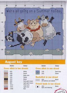 Gallery.ru / Фото #6 - 1 - lutarcik months of the year - August, cow, pig, sheep. like Sandra Boynton illustrations