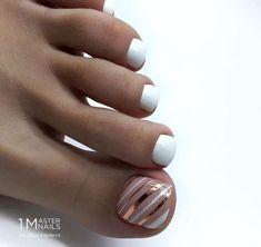 Gel Toe Nails, Feet Nails, Toe Nail Art, Diy Nails, Pretty Toe Nails, Cute Toe Nails, Colorful Nail Designs, Toe Nail Designs, Toe Nail Color