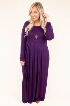 In My Prime Maxi Dress, Dark Purple