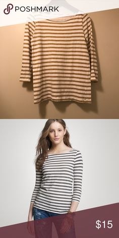 J.Crew Vintage Bateau Top J.Crew Vintage Bateau Top • Size: Small • Model Picture is Wrong Color • Cotton • Machine Wash • Excellent Condition • Original Price: $42.50 J. Crew Tops Tees - Long Sleeve