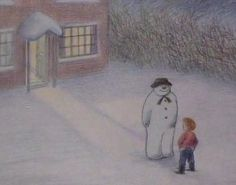 The Snowman is a short film based on Raymond Briggs' picture book. It was first broadcast four years after the book was published and . Christmas Mood, Father Christmas, Christmas Movies, Holiday Movies, Vintage Christmas, Christmas Cards, Merry Christmas, Xmas, Winter Illustration