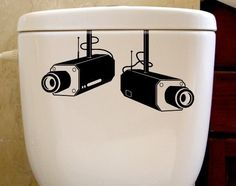 $13 SECURITY CAMERAS vinyl toilet fridge wall or window decal