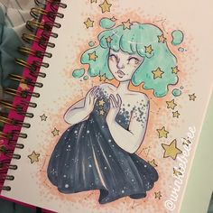 October 9th #inktober drawing [Constellations & Stars]. I'm so sad I didn't have more time for this, I was really excited for it #dailydrawing #inktober2017 #winklebeebeeinktober #constellations #starbabes #copicmarkers #mosseryco #mossery #instaarts #igdraws #creative_instaarts #illustratenow #abeautifulmessapp