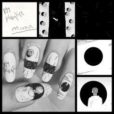 Art Nails – My hair and beauty Korean Nail Art, Korean Nails, Cute Nail Art, Cute Nails, Army Nails, Bts Makeup, Nail Inspo, Nail Arts, Christmas Nails