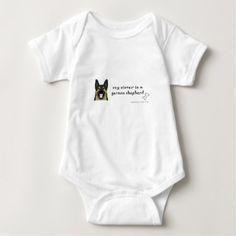 german shepherd baby bodysuit - shower gifts diy customize creative