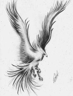 Dibujo de ave fénix