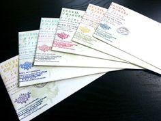 6 HandStamped No.10 Envelopes VintageInspired Flower by JJkun, $2.40