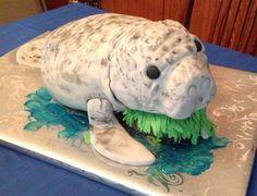 baby manatee cake