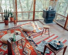 layered rugs / That Kind Of Woman
